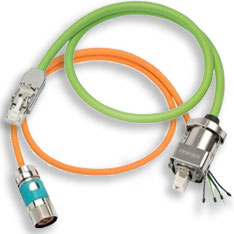 Servo motor cable harnesses
